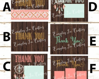 Wild One First Birthday Thank You Cards!! Digital File ONLY!! Matching Wild One Thank You Cards!