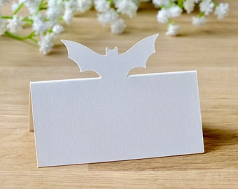 Bat Place Cards - Halloween Wedding Place Cards - Guest Name Seating Cards - Set of 10