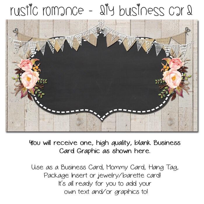 Rustic Business Card Custom PreMade Business Cards Rustic