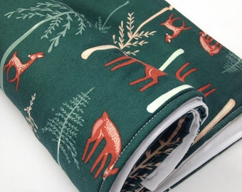 Portable Waterproof Baby Change Mat in Forest Deer