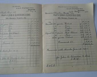 Vintage Business Handwriting Copy Book 1938