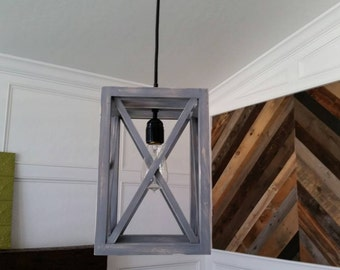 Rustic Industrial Pendant X light, Now on Sale!