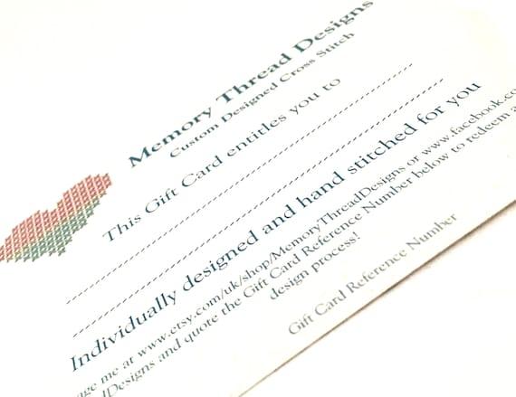 Cotton wedding anniversary gift voucher gift card negle Images