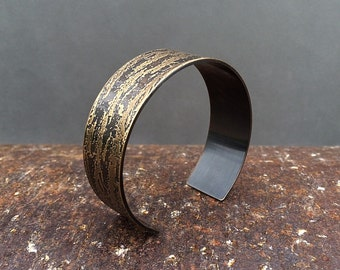 oak bark cuff bracelet | oak tree | etched oak bark bracelet | copper cuff | brass cuff