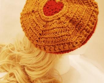 MADE TO ORDER Jammie Dodger Crochet Beret