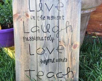 Love // Laugh Live Teach // Arrows