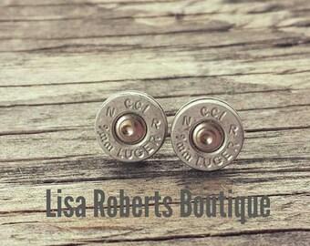 Sale! * 9mm ammo earrings