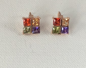 Crystal Faceted Earrings