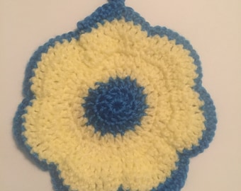 Crocheted Flower Dish Cloth