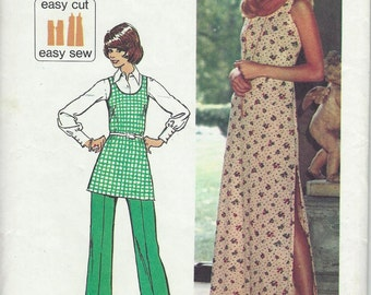 1973 VINTAGE SIMPLICITY PATTERN. Misses Jiffy Knit Dress or Tunic and Pants. 5559 Size 12