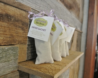 Dryer Sachet 5-Pack, Laundry Supplies, Lavender, Dryer Sheets, Natural Cleaning