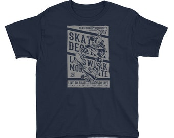 Live to Skate Skate to Live Skateboard Youth Short Sleeve T-Shirt