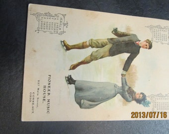 antique 1902 Calendar