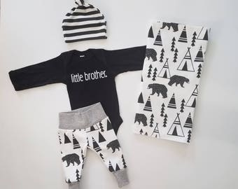 Baby Boy Coming Home Outfit. Newborn Boy Coming Home Outfit. Boy Coming Home Outfit. Coming Home Outfit Boy. Little Brother Bear Tipi.