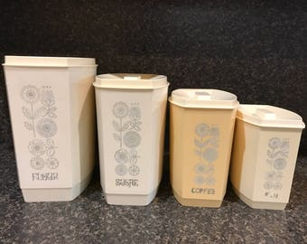 Vintage Kitchen Canister Set