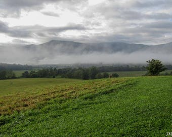 Clouds over the Great Smoky Mountains Nature Photography Print