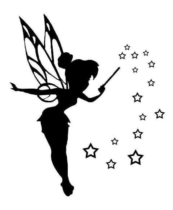 tinkerbell shadow chart for crochet ot cross stitch. Black Bedroom Furniture Sets. Home Design Ideas