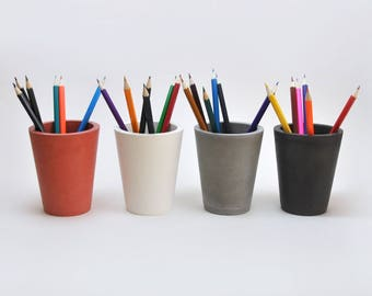 Concrete Cup | Pencil holder | Pen holder | Toothbrush holder | Bathroom Accessory | Pencil Cup | Office Accessory