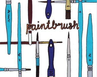 Artist Print, Artist Gift, Studio Wall Art, Hand Lettering, Paintbrush, Art Lover Gift, Painter Gift, Craft Room Decor,Art Print, Wall Art