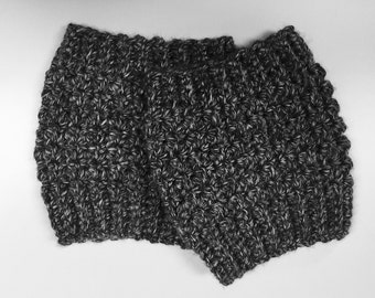 Textured Crocheted Boot Cuffs