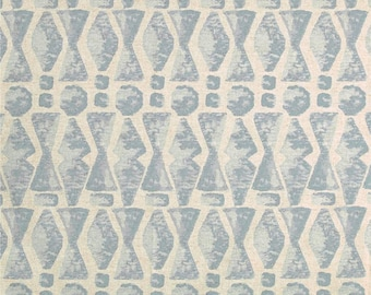 Abstract Print Fabric Lacefield Designs Juju in Swedish Blue , Lined Drapes, Custom Curtains