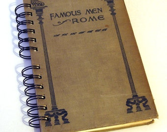 1904 ROME TRAVEL Handmade Journal Vintage Upcycled Book Travel Italy Journal