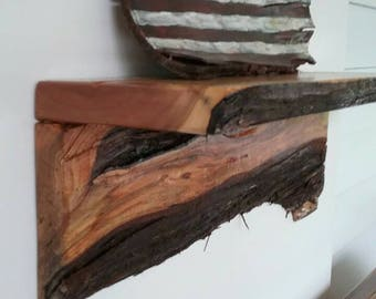 Custom made/ personalized, live egde wood shelves