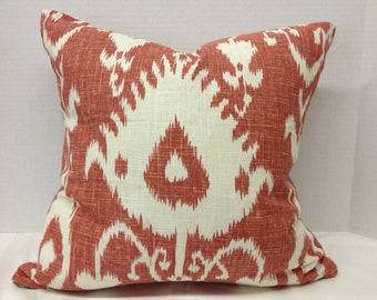 """18"""" Coral Print Decorator Pillow Cover"""