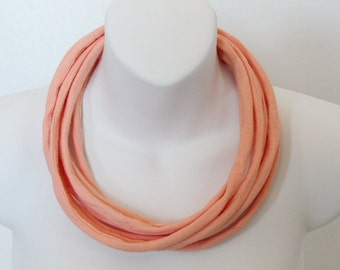 Necklace, headband from upcycled neckties. Made in Québec, Canada
