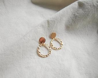 melt&float_Simple Gold Round Earrings