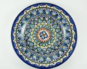 Uzbekistan plates wall hanging Uzbek ceramics buy plates for standsplates wall decorceramic blue and green plates decorative plates D2  sc 1 st  Etsy & Decorative plates | Etsy