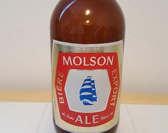 Molson Montreal beer bottle ( Molson Export - 1960s ) Vintage