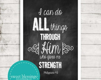 Philippians 4:13 Instant Download