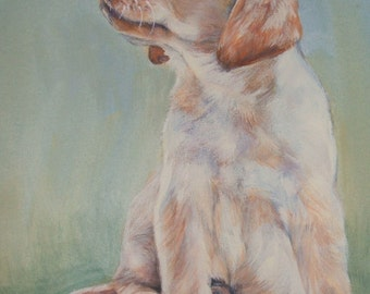 Labrador Retriever portrait CANVAS print of La Shepard painting 11x14 lab dog art