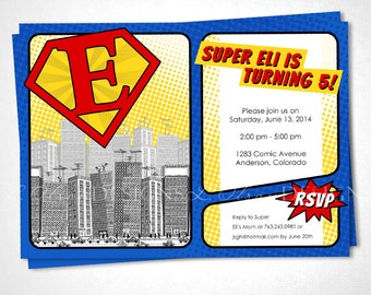 Superman-inspired Birthday Invitiation DIY printable