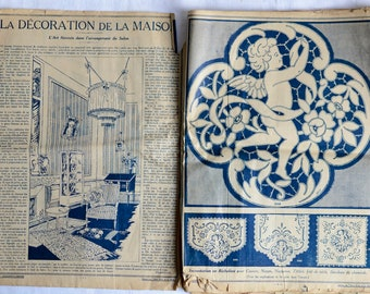 Vintage French Fashion Magazine - 1920s - Le Petit Echo de La Mode - La Maison Edtion