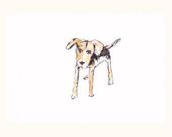 Unique dog painting