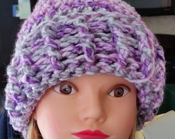 Slouchy Hat, Crocheted Slouchy Hat, Crocheted Hat, Beanie, Hat, Teen Hat, Women Hat, Cap, Skull Cap