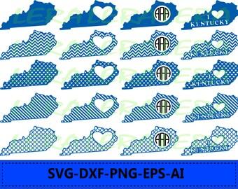 60 % OFF, Kentucky State SVG, Kentucky Monogram Frames, Kentucky Cricut file, Silhouette Vinyl Cutting file,Kentucky dxf,svg, dxf,ai,eps,png