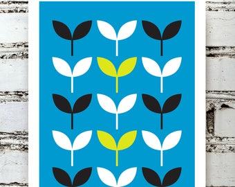 Scandinavian Gallery Art Print - exquisite mould-made fine art paper - Nordic retro minimalist minimal Mid Century Modern - ref 1060/00