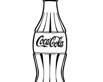 Coca Cola bottle - Hand-drawn illustration print
