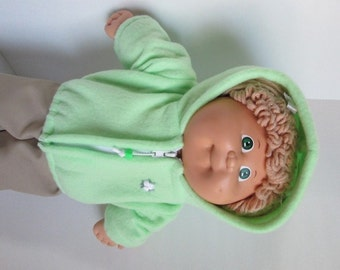 """16"""" Girl Cabbage Patch MInt Green Hooded Jacket"""