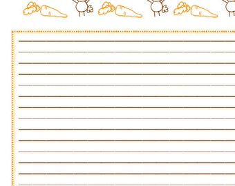 INSTANT DOWNLOAD Easter Bunny Printable Paper