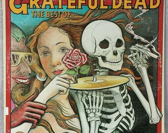 "The Grateful Dead 1974 Skeletons From The Closet (W 2764) 12"" Vinyl 33 LP Warner Brothers Psychedelic Rock - Truckin' - Casey Jones VG"
