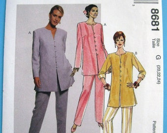 8681 McCalls 1997 pattern Womans Top and pull on pants size 20 to 24  Factory fold