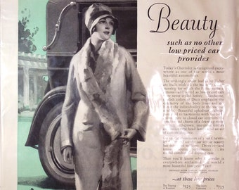 Vintage 1920's Two Page Chevrolet Car Ad From The Saturday Post