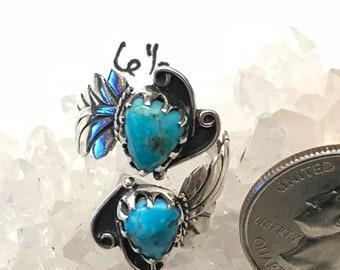 Sleeping Beauty Turquoise Ring Size 6 1/2