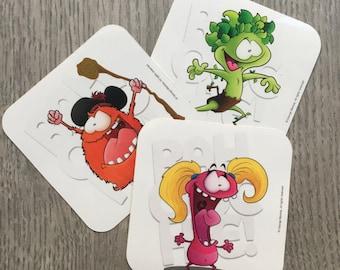 BAHOOCHIE! eejit character Stickers (3 pack)