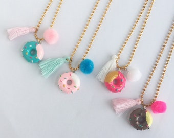 Frosted Donut Necklace