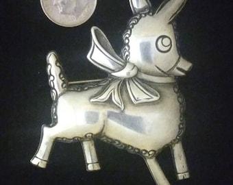 1940's sterling silver Trueart Donkey Pin